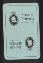 Advertising  playing cards Senior Service cigarettes